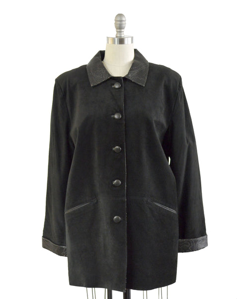Covered Button Coat