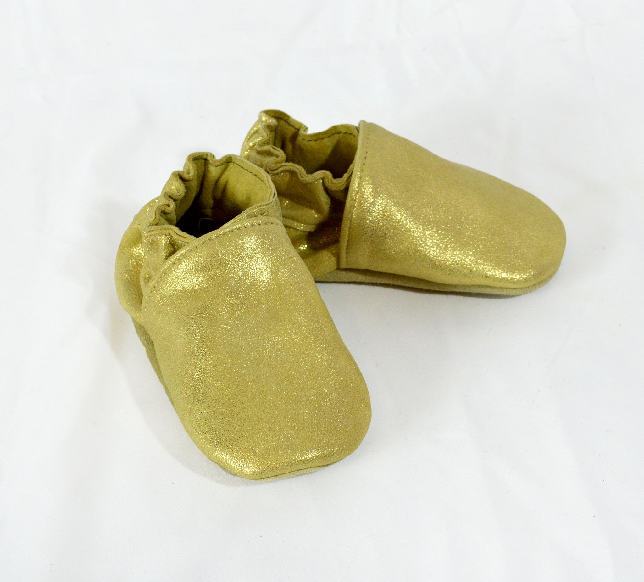 Metallic Gold Booties