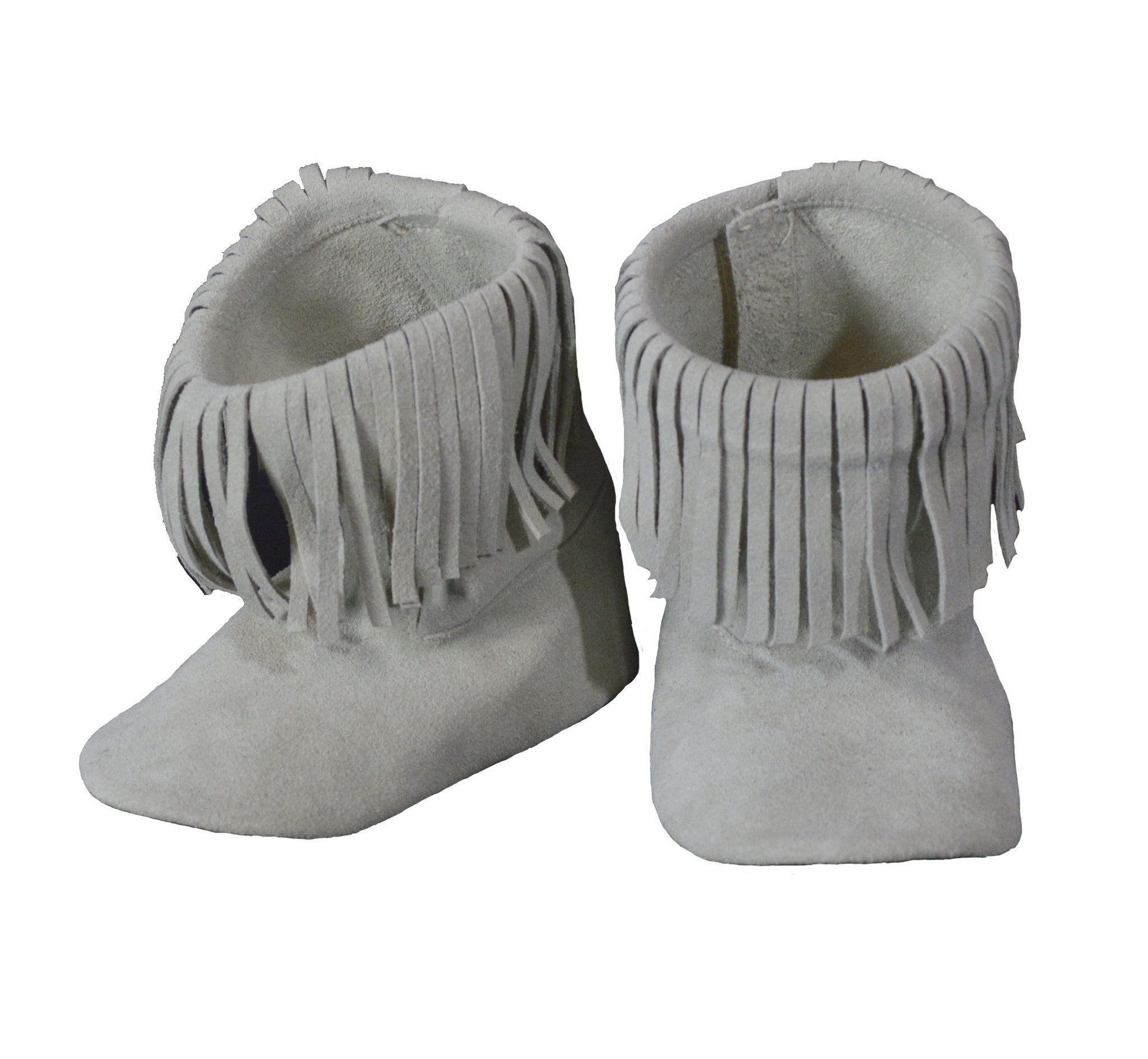 High Top Sand Fringe Booties
