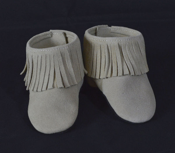 Lowtop Sand Fringe Booties