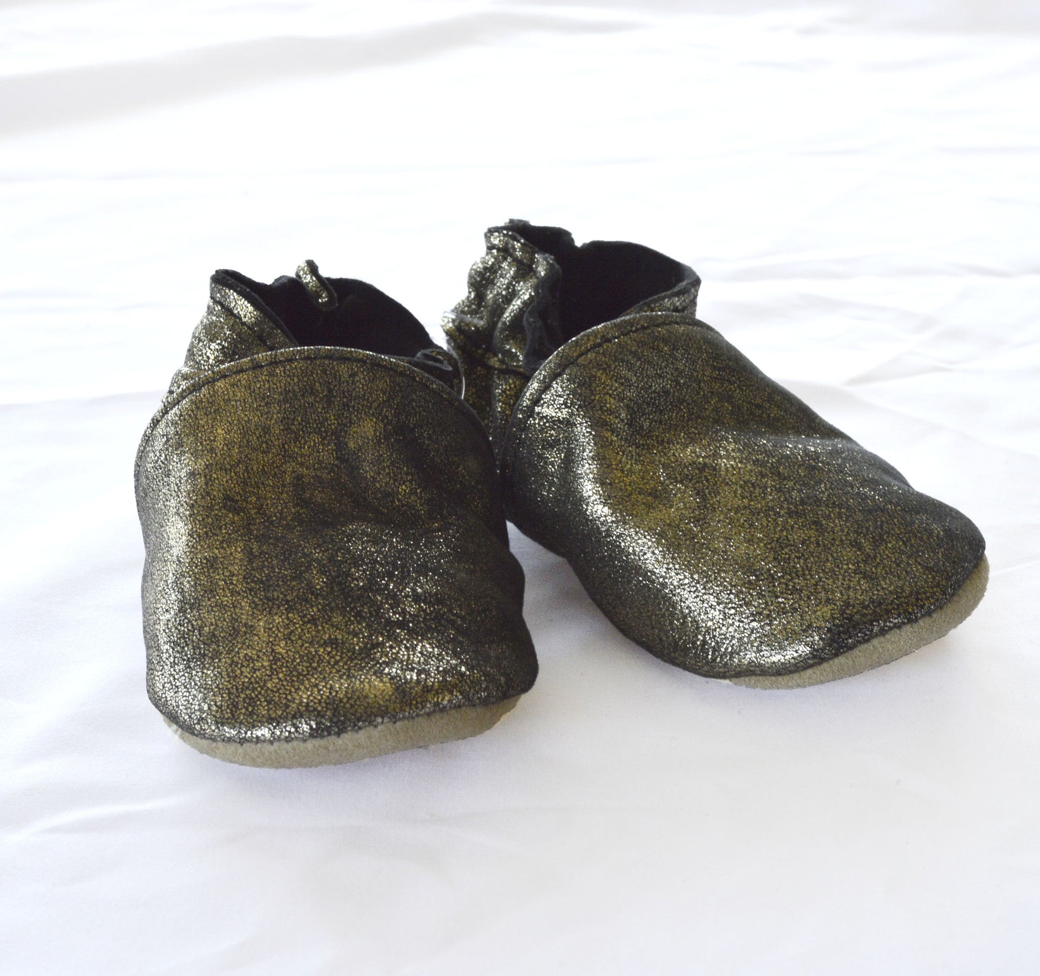 Metallic Pewter Booties