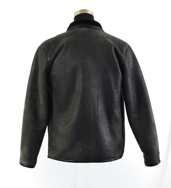 Black Lambskin Shearling Jacket