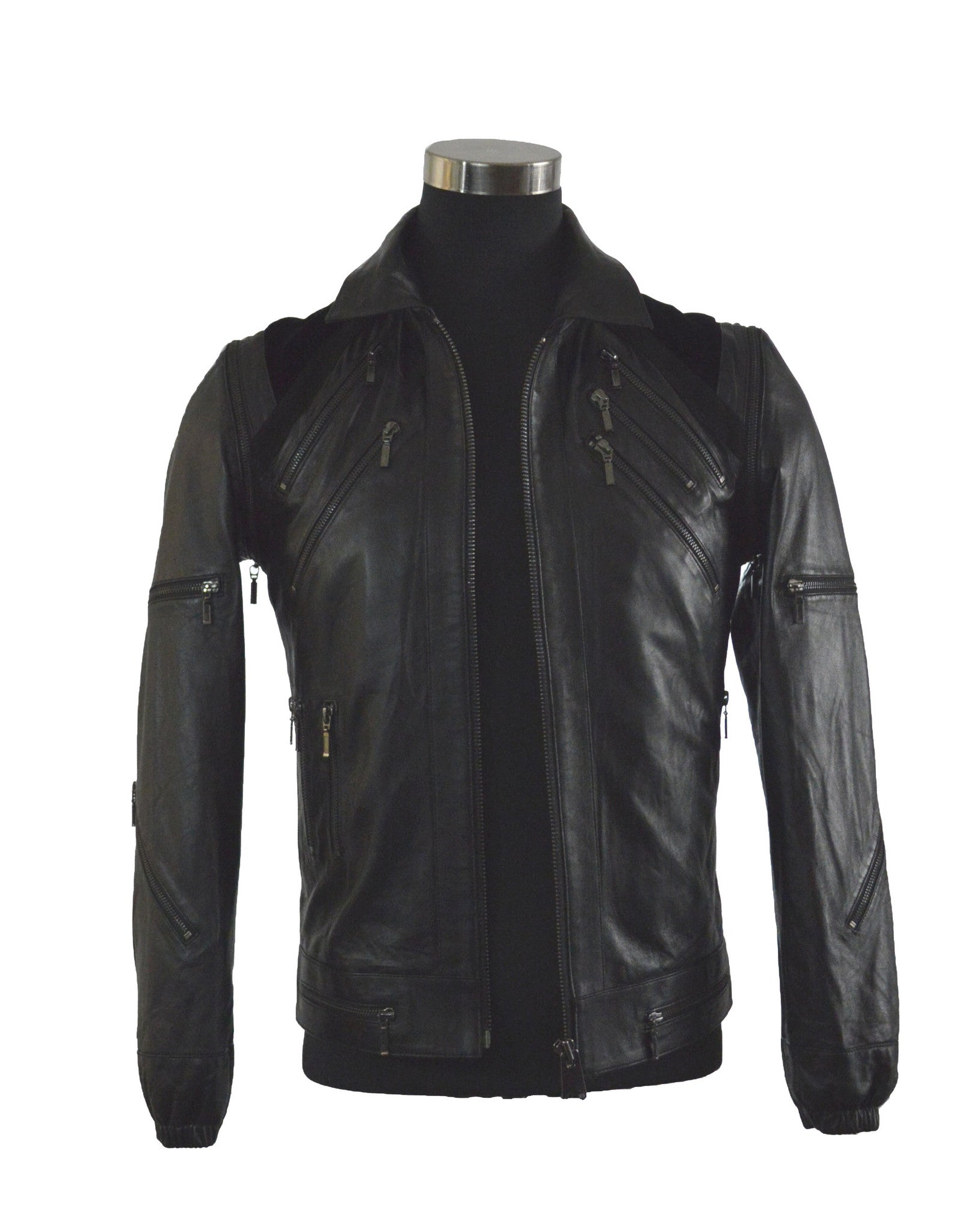 Zipper Front Lambskin Jacket