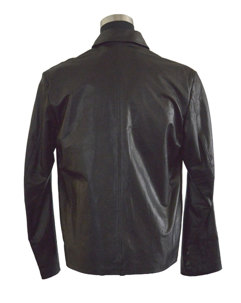 Black Smooth Zip Front Jacket