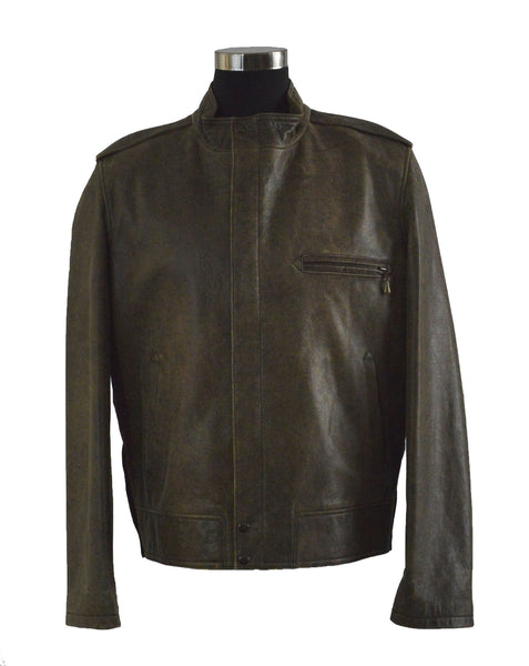 Distressed Lambskin Jacket
