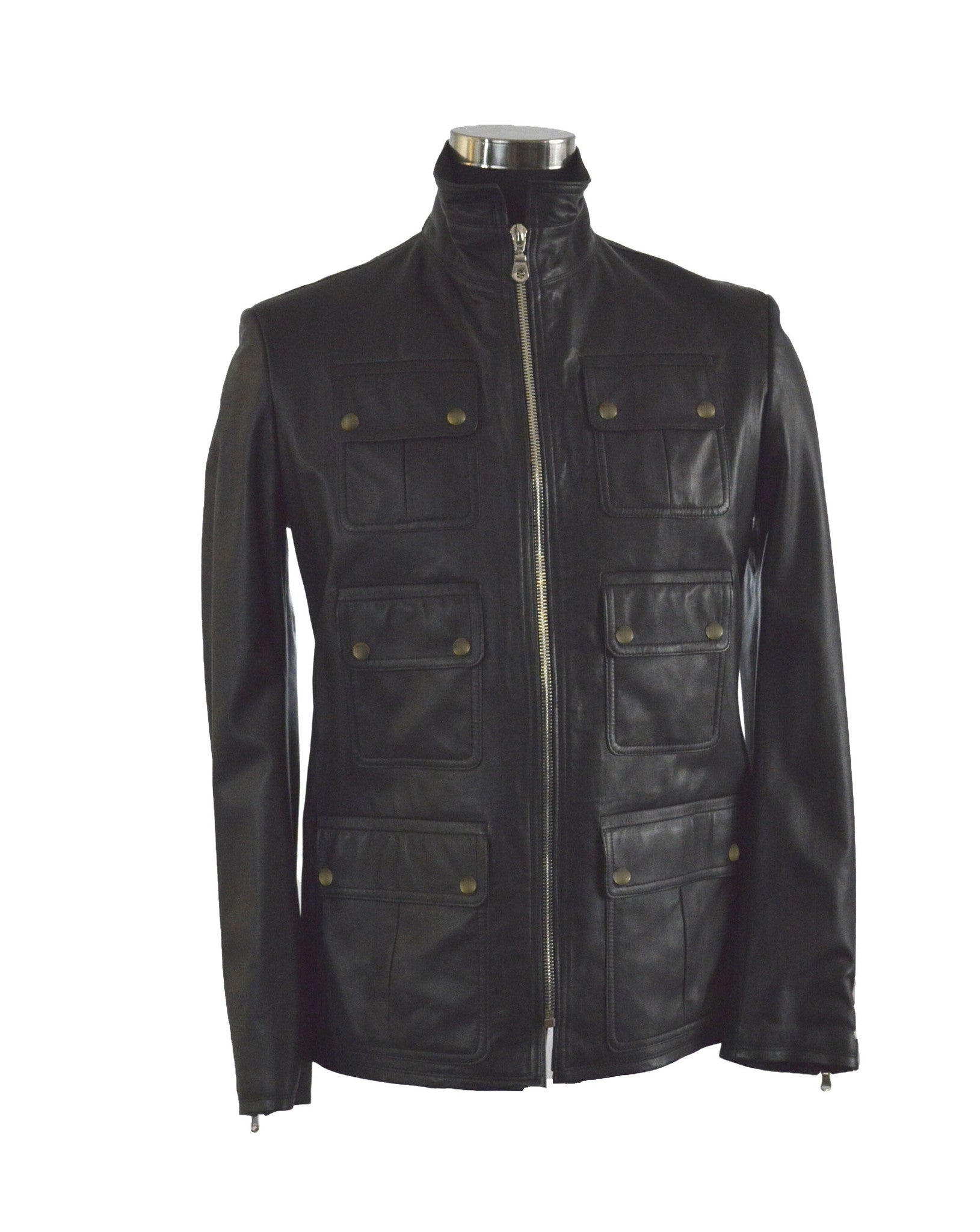 Snap Flap Lambskin Jacket