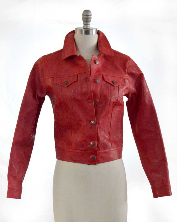 Red Goat Skin Jacket