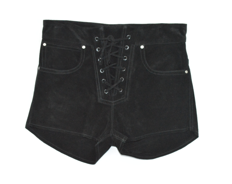 Lace-Up mini shorts