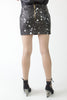 Black Splatter Mini Skirt