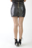 Crocodile Zipped Mini Skirt