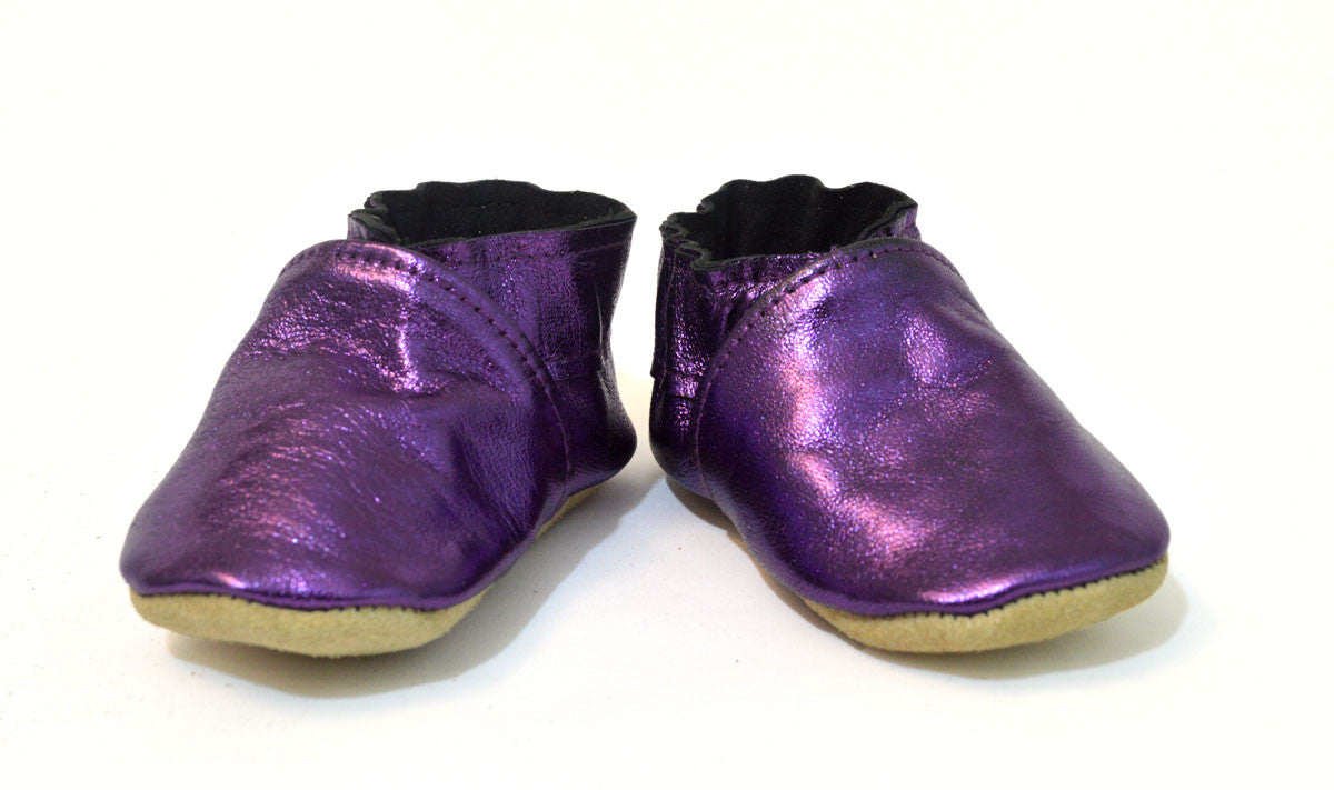 Metallic Purple Booties