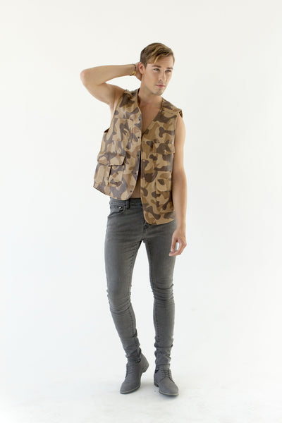 Brown Fisherman Vest