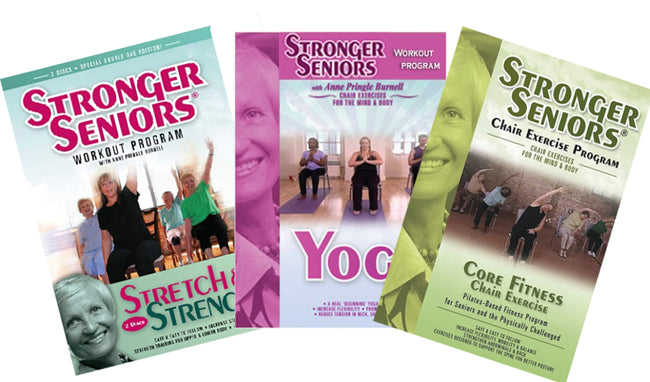 4-Disc Chair Exercise DVD Video Collection - Stronger Seniors Chair Exercise Programs