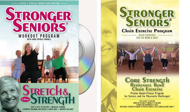 Strength Training 3-DVD Package - Stronger Seniors Chair Exercise Programs