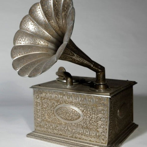 Antique Silver Gramophone