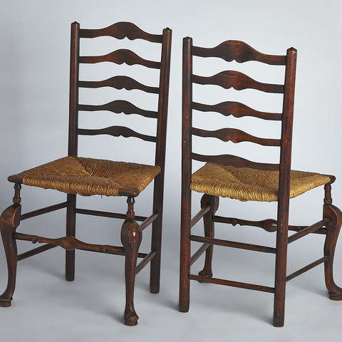 English Country Ladder Back Chairs
