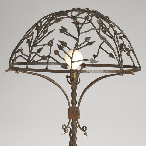 Art Deco Forged Iron Lamp