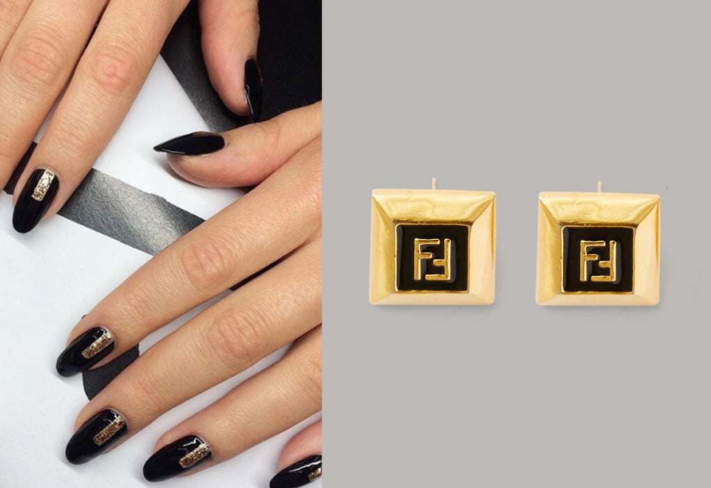 Fendi earrings JinSoon nails