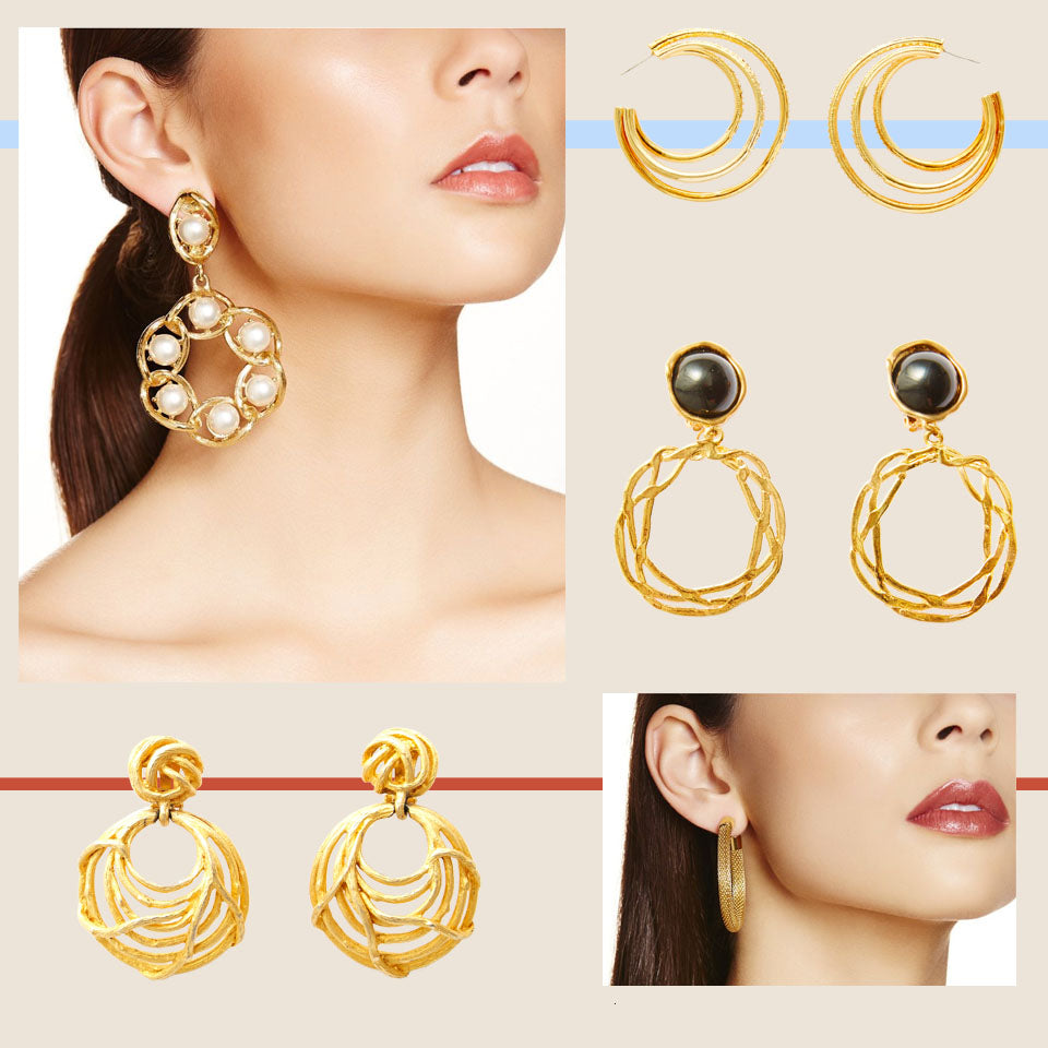 Hoop earrings Love and Object