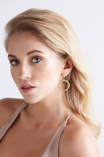 Annah Gold Single Hoop Earrings