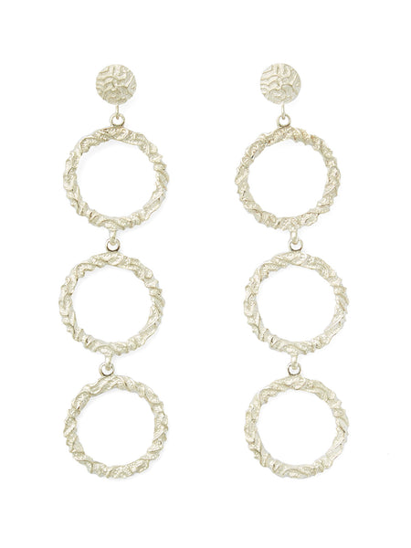 Annah Silver Triple Hoop Earrings