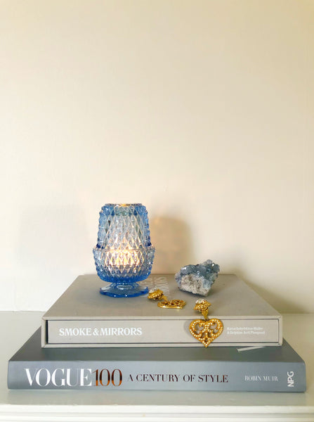 Rare 1960s Crystal Candle Lamp