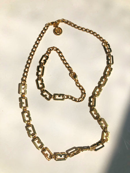 Chain Logo Necklace