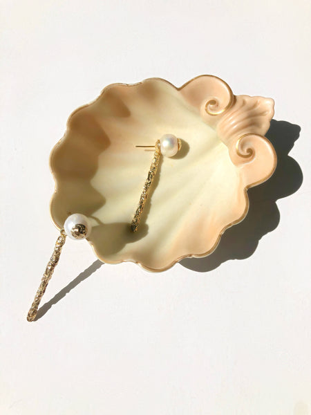 Avita Baroque Pearl and Gold Earrings - SOLD OUT