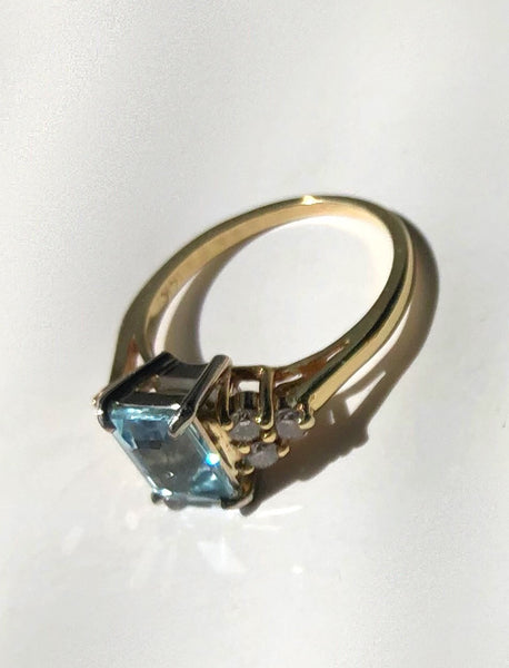 Topaz and Diamond Ring (sold)