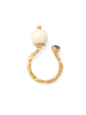 Babette Pearl Ring - Gold