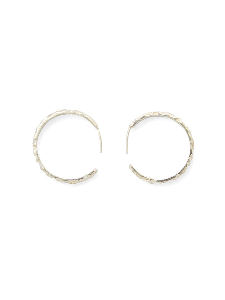 Aria Hoop Earrings - Silver