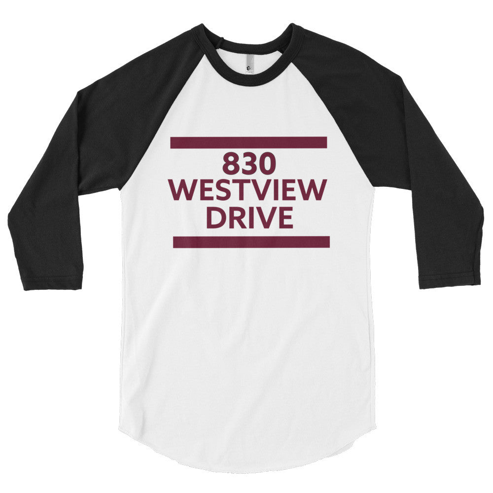 830 Westview Drive - 3/4 sleeve Raglan Shirt