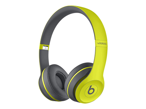 Beats Solo2 Wireless On-Ear Headphones – Shock Yellow - Manufacturer Refurbished