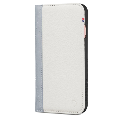 Decoded Leather Wallet Case for iPhone 8 / 7 / 6S / 6 - White Gray