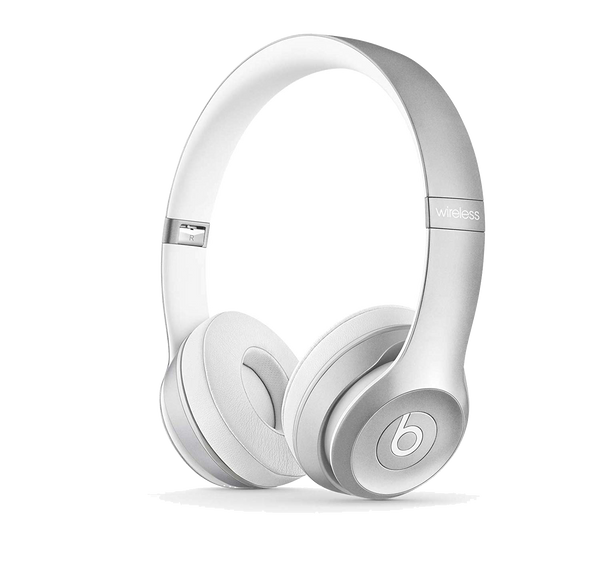 Beats Solo2 Wireless On-Ear Headphones – Silver - Manufacturer Refurbished