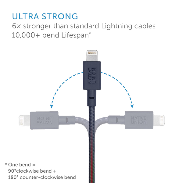 Native Union Lightning to USB Key Cable - Marine