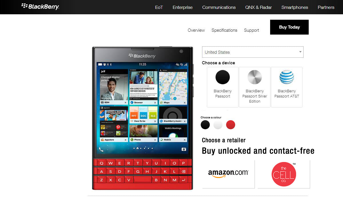 BlackBerry Passport Red - Limited Edition