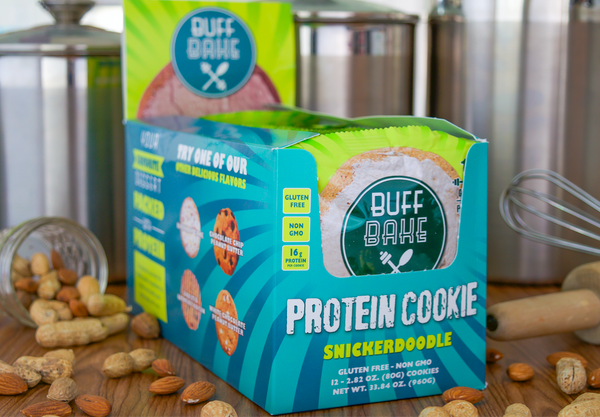 BUFF BAKE - PROTEIN COOKIES - 12 PACK