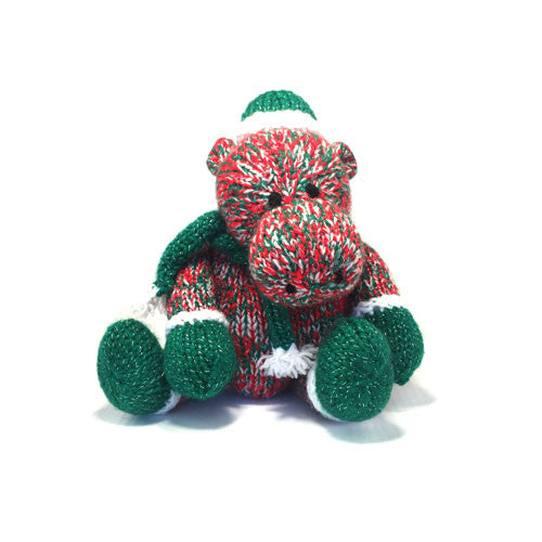 Hippopotamus for Christmas Knitting Pattern