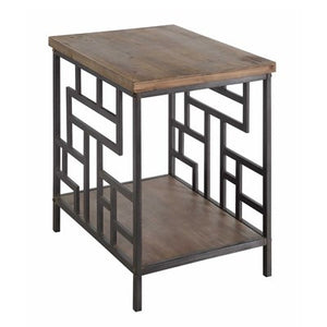 Fairmont Metal & Wood End Table