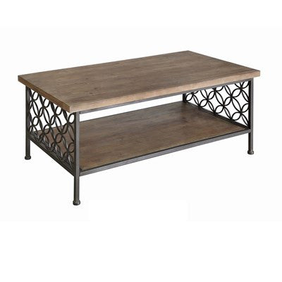Fairmont Metal & Wood Cocktail Table