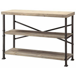 360 Midtown Wood and Metal Console
