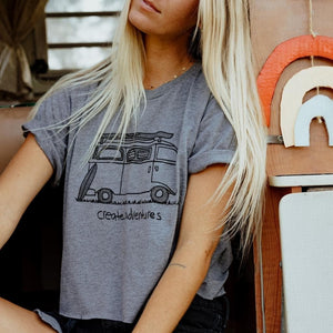Cropped Bus Tee