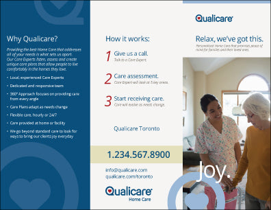 Qualicare - Brochures - Personalized - Printphics Inc.