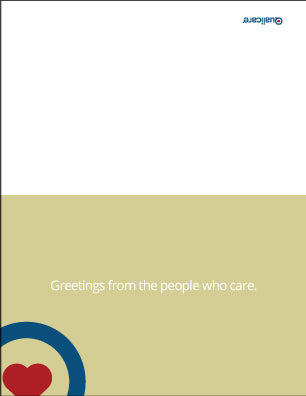 Qualicare - Greeting Card vs. 4 - Personalized - Printphics Inc.
