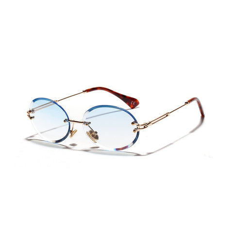 Oval Rimless Sunglasses
