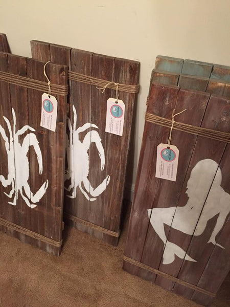 Rustic Costal/Nautical Pallet
