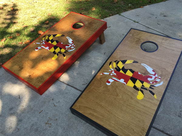 Crab with Flag Cornhole set *Sale and Christmas*