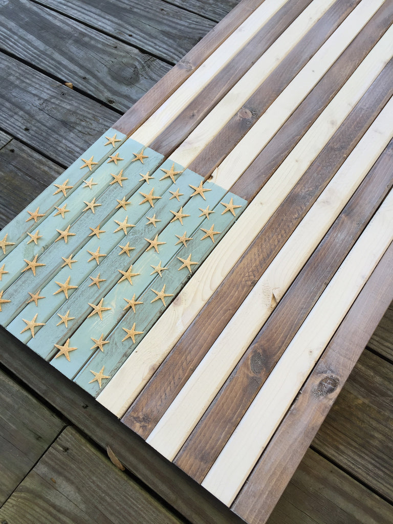 Starfish Rustic Flag