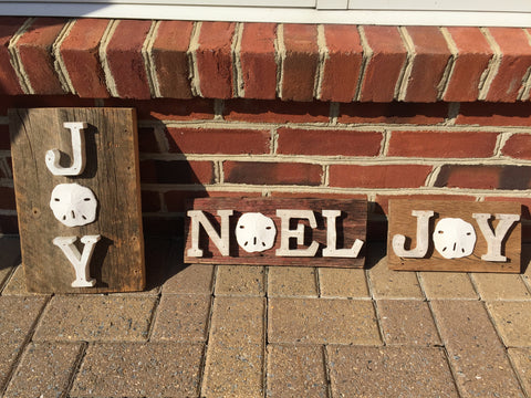 Barnwood Joy and Noel Signs